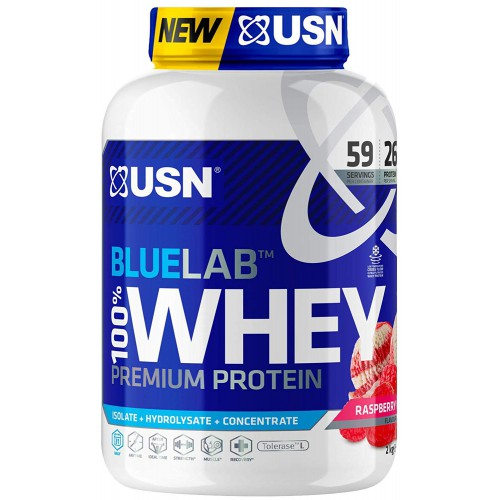 USN Bluelab 2kg 100% Whey Rasberry