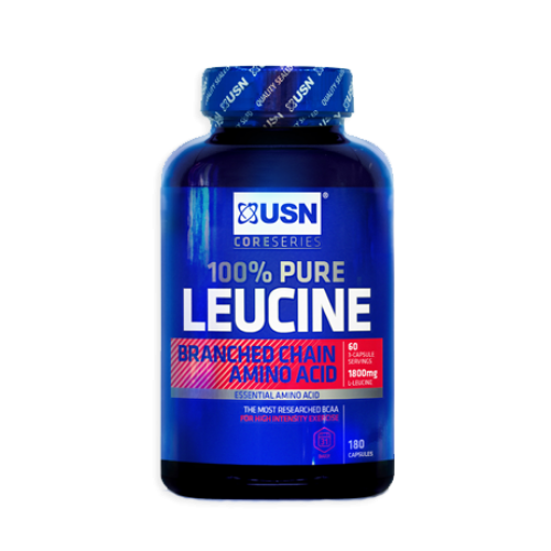 USN 100% Pure Leucine 180 Capsules